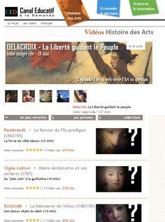 De nombreuses vidéos pour l'histoire des arts.
