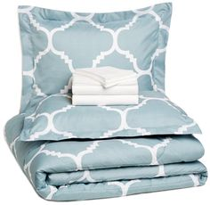 5 Piece Complete Comforter Bedding Set Bed in a Bag, Plaid, Trellis,Striped,Calvin Striped, or Floral