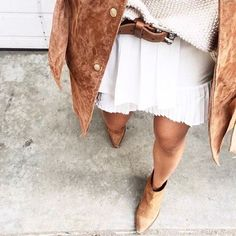Suede boots ✔️ Suede jacket ✔️ Amazing fall outfit ✔️  // Follow @ShopStyle on…