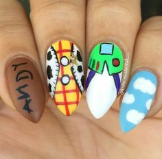 """Cute idea, """"Toy Story"""" nail art"""