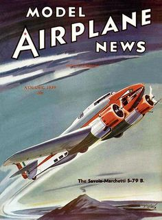 Model Airplane News - August 1939 - Magazine Cover Poster