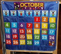 calendar time, beginning to the school day, very cute, definitely doing when we get more serious about schooltime