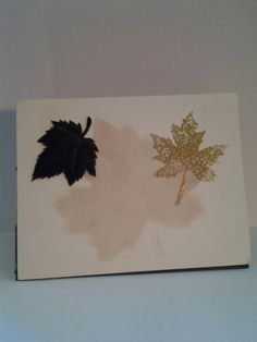 September card swap 2016. Theme leaves, create a fall card using just leaves. Created by Anita Herman.