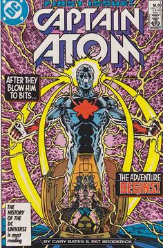 Captain Atom is a fictional character, a comic book superhero that has existed in three basic incarnations. Created by writer Joe Gill and artist/co-writer Steve Ditko, he first appeared in Space Adventures #33 (March 1960). Captain Atom was created for Charlton Comics but was later acquired by DC Comics and revised for DC's post-Crisis continuity.