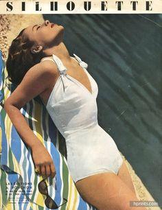 Schiaparelli 1949 Cover, Swimwear, Photo Guy Arsac