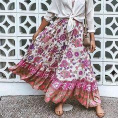 Bohemian floral print beach skirt women 2020 summer autumn lace up lon – cuteshoeswear fancy skirts outfits skirt shirt skirt lace skirt and tshirt outfit casual #dressskirts #jeanedskirtoutfits #fancyskirtsoutfits #fashionskirts Fancy Skirts, Casual Skirts, Cute Skirts, Maxi Skirt Boho, Beach Skirt, Long Skirt Outfits, Flower Skirt, Skirt Fashion, Shirt Skirt