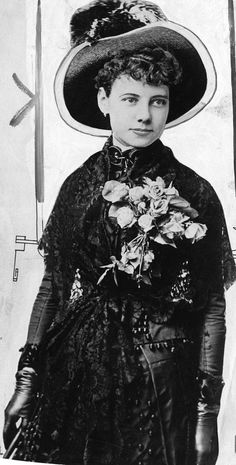 Great women of history: Nellie Bly, and the story of how she accomplished and persevered in spite of her circumstances. Jules Verne, Nellie Bly, Joseph, Intelligent Women, Wax Museum, You Go Girl, Historical Women, Great Women, Spice Girls