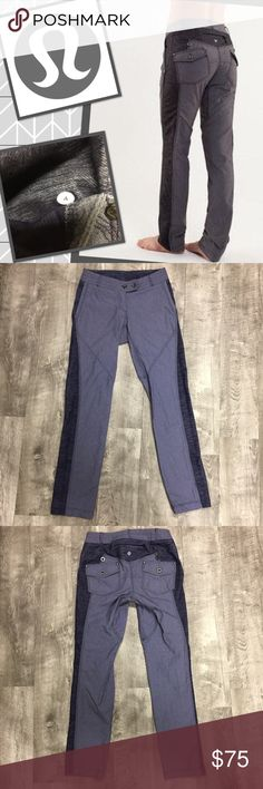 Lululemon Ride On Pants Denim Jeans Trousers 4 Lululemon Ride On Pants Denim Trousers. Not sure official name. Super cute alternative to jeans. Much more comfy too! Very stretchy. Legs are between a straight leg and skinny. Two Tone blue denim. Size 4. Great used condition. Check out my closet for other namebrand items to bundle with to save 15% and combined shipping. lululemon athletica Jeans Straight Leg