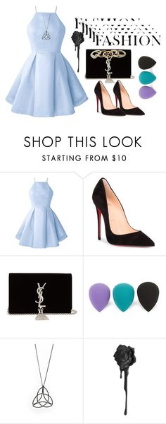 """fashion lover"" by majdox ❤ liked on Polyvore featuring Christian Louboutin, Yves Saint Laurent, Lord & Taylor and GUESS"