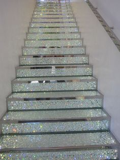 glitter diamond staircase home living decor interior