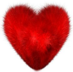 Red Fuzzy Heart PNG Clipart Picture
