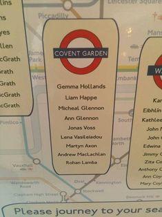 plan de table metro londonien