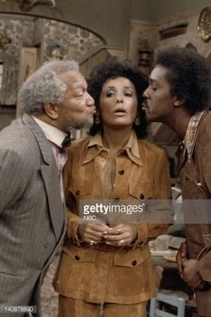 SON 'A Visit from Lena Horne' Episode 16 Aired 1/12/73 Pictured Redd Foxx as Fred G Sanford Lena Horne as Herself Demond Wilson as Lamont Sanford...