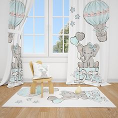 Excited to share this item from my #etsy shop: Elephants Baby Boy Room Curtains Nursery Curtains Window Curtains #bedroom #babyroom #elephant #elephantcurtain #nurserycurtains #babyroomcurtains #blackoutcurtains