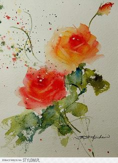 Tea Roses Painting by Sandra Strohschein - Tea Roses Fine Art Prints and Posters for Sale Watercolor Rose, Watercolor Cards, Watercolor Print, Plant Drawing, Painting & Drawing, Art Paintings, Watercolor Paintings, Watercolors, Rose Art
