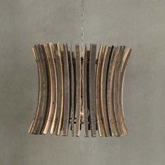 french oak wine barrel chandelier..