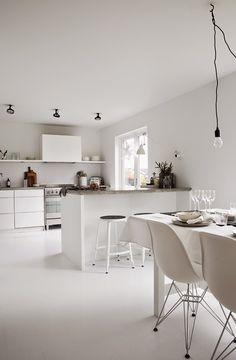 all white kitchen minimal