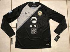 NWT NIKE Club America 2018 BLACK Goalkeeper Jersey Men's Large  | eBay Club America, Goalkeeper, Adidas Jacket, Nike, Men, Ebay, Black, Fashion, Goaltender