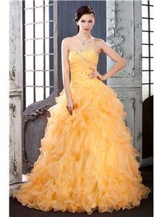 Sweetheart Floor-Length Ruffles Polina's Quinceanera Dress