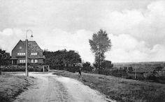 Brunssum: De Putstraat 30er jaren. Nu hoek Kruisbergstraat en Kruisbergpad (met de trappen naar de Mozartstraat).