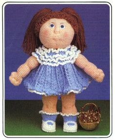 Debbie Cabbage Patch - Carey Richards - Álbuns da web do Picasa. Awesome crocheted  doll and dress. 5774ed2c370