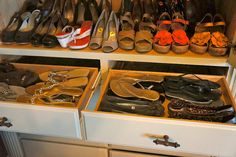 Built-in Amoire becomes a shoe closet...see at pinecreekstyle.blogspot.com