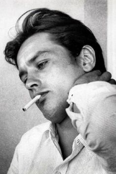 """♔ """"I'm not going to complain about life - I had everything, I got everything I wanted."""" Alain Delon"""