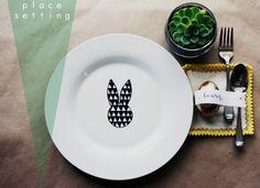 DIY Bunny plate