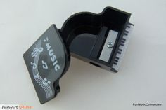 FunMusic: Black Grand Piano Shape Pencil SharpenerKawaii Novelty Stationery Set