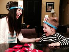 Hedbanz is a game that is absolutely perfect for eliciting language! The ideas that could be hatched from this game are limitless, so use this as a guide and create your own ideas as well! If you don't buy the game, laminate a headband and images and use velcro!