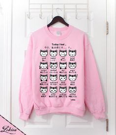 Hey, I found this really awesome Etsy listing at http://www.etsy.com/listing/178551125/japanese-kitty-emoticon-crewneck
