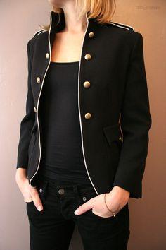 Veste officier femme createur