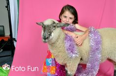 Photo session with sheep at Little Einsteins Educare, Cambridge, 2011