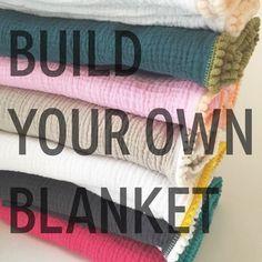 Swaddle Blanket / Build Your Own Pom Pom Swaddle Blanket / Gauze Swaddle / Blanket / Newborn / Newborn Baby Blanket / cotton swaddler by CharleyCharlesShop on Etsy https://www.etsy.com/au/listing/195112428/swaddle-blanket-build-your-own-pom-pom