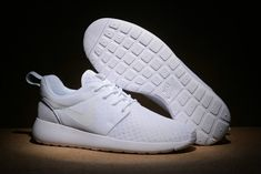 9e517f25bf754 Original Nike Roshe One BR Mens Sneakers Running Shoes 718552-111 All White  blanc EUR 36-44 NEW Youth Big Boys Shoes