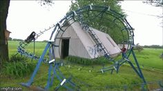 A Roller Coaster | 29 Amazing Backyards That Will Blow Your Kids' Minds