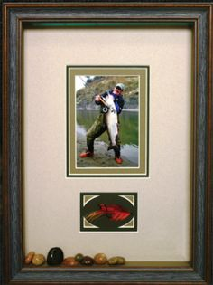 Custom frame Dad's favourite memories this Father's Day! #customframing #fathersday #gift #fishing