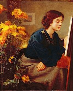 At the Easel by James N. Lee