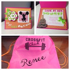 Crossfit birthday card and bag