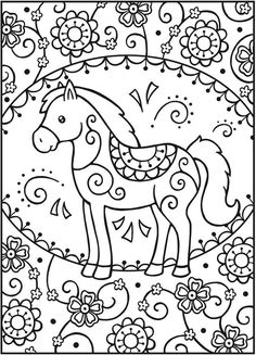 Childrens animal videos coloring books kids coloring videos kids free printable coloring pages free printable coloring . Kids Printable Coloring Pages, Horse Coloring Pages, Cute Coloring Pages, Doodle Coloring, Coloring Pages To Print, Adult Coloring Pages, Coloring Sheets, Coloring Books, Mandala Coloring