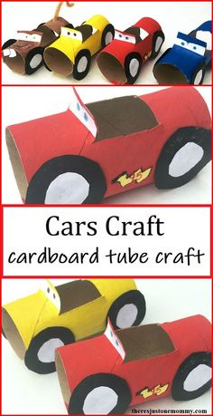 If you have a Cars fan, they'll love this simple craft!