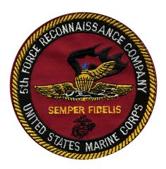 Patch - USMC 5th Force Recon Company Marines L375