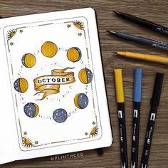 Bullet Journal October Theme, Bullet Journal Disney, Bullet Journal Cover Ideas, Bullet Journal Notebook, Bullet Journal Spread, Bullet Journal Inspo, Journal Covers, Book Journal, Bullet Journal Bookshelf