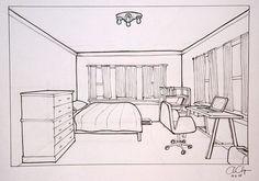 die 38 besten bilder von zimmer zeichnen vanishing point drawings und drawing techniques. Black Bedroom Furniture Sets. Home Design Ideas