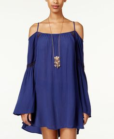 American Rag Cold-Shoulder Shift Dress, Only at Macy's