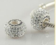 2pcs Twins European beads Pandora beads Clear Crystal by jodenma, $10.99
