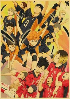 Vintage Haikyuu Retro Poster - 42x30 cm / E193 10