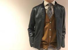 いいね!38件、コメント1件 ― NOLLEY'S goodman officialさん(@nolleys_mens)のInstagramアカウント: 「《NOLLEY'Sgoodman》knit styling Fullfashion cardigan ¥13,000(+tax) ラムレザーライダースジャケット ¥39,000(+tax)…」