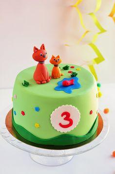 Cicás torta készítése cica figurával lépésről lépésre - egyszerű fondant cica útmutató
