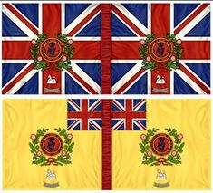 88th (Connaught Rangers) RoF. King's & Regimental Colours. Pre Waterloo Military Flags, Military Uniforms, Empire, Waterloo 1815, Flags Of The World, Napoleonic Wars, British Army, Modeling, Badge